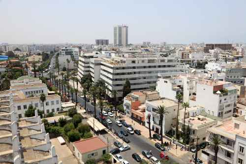 View over the city of Casablanca, Morocco